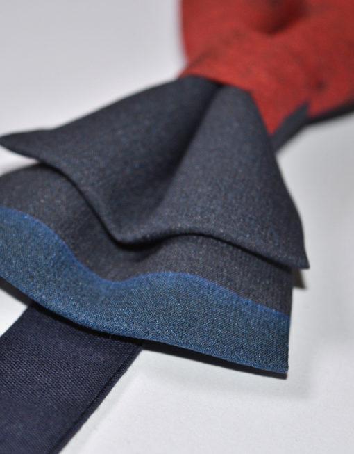 Papillon Blu Rosso - Papillon Italiano - Papillon handmade Made in Italy Moda Uomo Shop Online Papillon fatto a mano - 0062 3