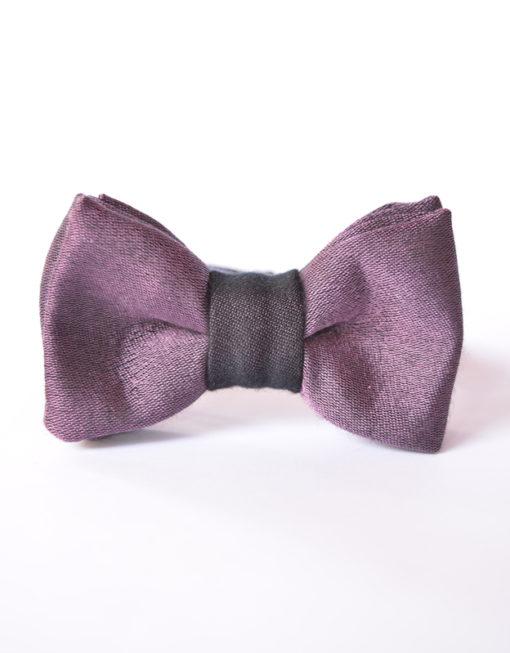 Papillon Viola Nero Papillon Italiano HandMade Made in Italy Bowtie Fashion Style Moda Uomo Shop Online Fatto a Mano 0065