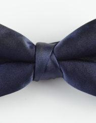 Papillon Blu con Centrale rigirato - Papillon Italiano handmade - made in italy - moda uomo - shop online - fatto a mano 0078