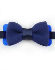 Papillon Blu Navy con Plexiglass - Papillon Italiano handmade - made in italy - moda uomo - shop online - fatto a mano 0082