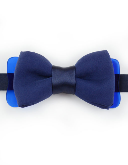 Papillon Blu Navy con Plexiglass - Papillon Italiano handmade - made in italy - moda uomo - shop online - fatto a mano 0082