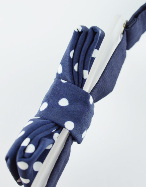 Papillon Blu Pois Bianchi con Plexiglass - Papillon Italiano handmade - made in italy - moda uomo - shop online - fatto a mano - accessorio uomo 0085