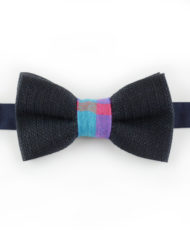 Papillon Blu con centrale colorato - Papillon Italiano handmade - made in italy - moda uomo - shop online - fatto a mano 0073