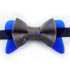 Papillon Floreale con Plexiglass Blu - Papillon Italiano - handmade - made in italy - moda uomo - shop online - fatto a mano - Papillon in Seta 0084