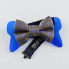 Papillon Floreale con Plexiglass Blu - Papillon Italiano handmade - made in italy - moda uomo - shop online - fatto a mano 0084
