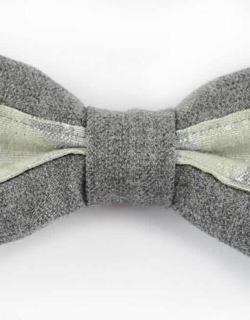 Papillon Grigio Mélange con Lurex - Papillon Italiano - handmade - made in italy - moda uomo - shop online - fatto a mano - sartoriale 0074