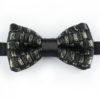 Papillon Nero Oro in Lurex - Papillon Italiano - handmade - made in italy - moda uomo - shop online - fatto a mano - made in italy 0071