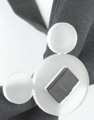 Papillon Nero con inserto Mouse Plexiglass - Papillon Italiano - HandMade - Made in Italy - Moda Uomo - Accessorio - Fashion - Shop online - 0075