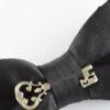 Papillon Nero con Chiave in Argento - Papillon Italiano handmade - made in italy - moda uomo - shop online - fatto a mano - accessorio uomo - Luxury Edition - Bow Ties 0098